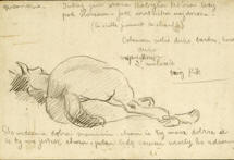 picture of a drawing from the Gaudier-Brzeska Collection